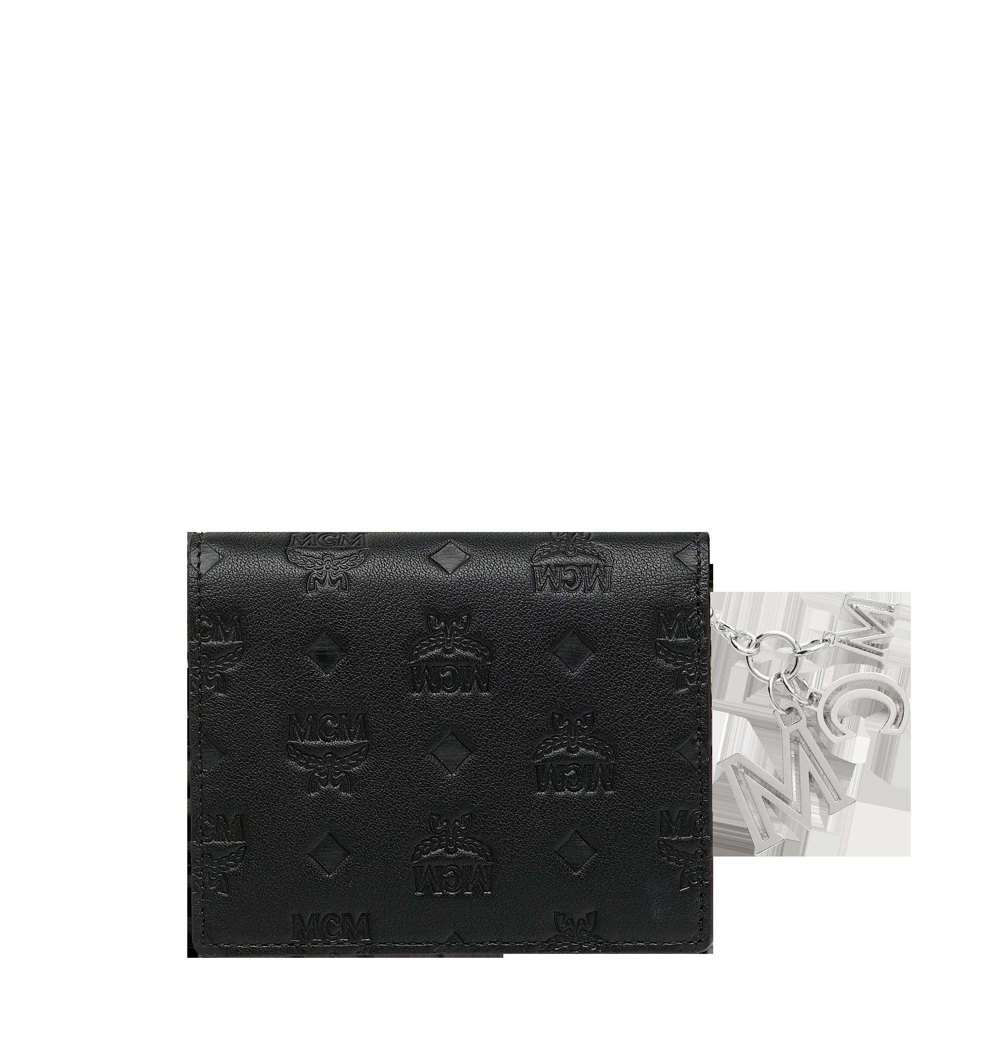 MCM Klara经典花纹皮革对折式钱包 Black MYS9SKM40BK001 更多视角 2