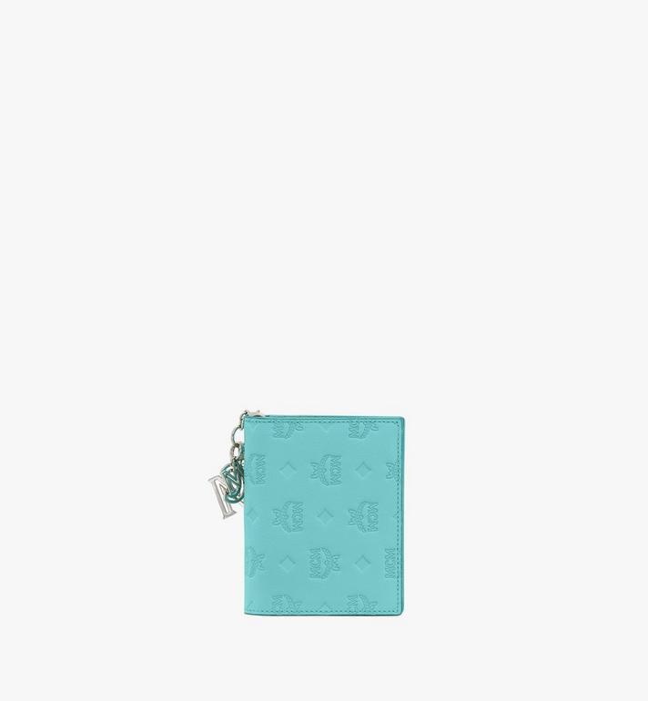 MCM Klara Mini Bifold Wallet in Monogram Leather Blue MYS9SKM40H3001 Alternate View 2