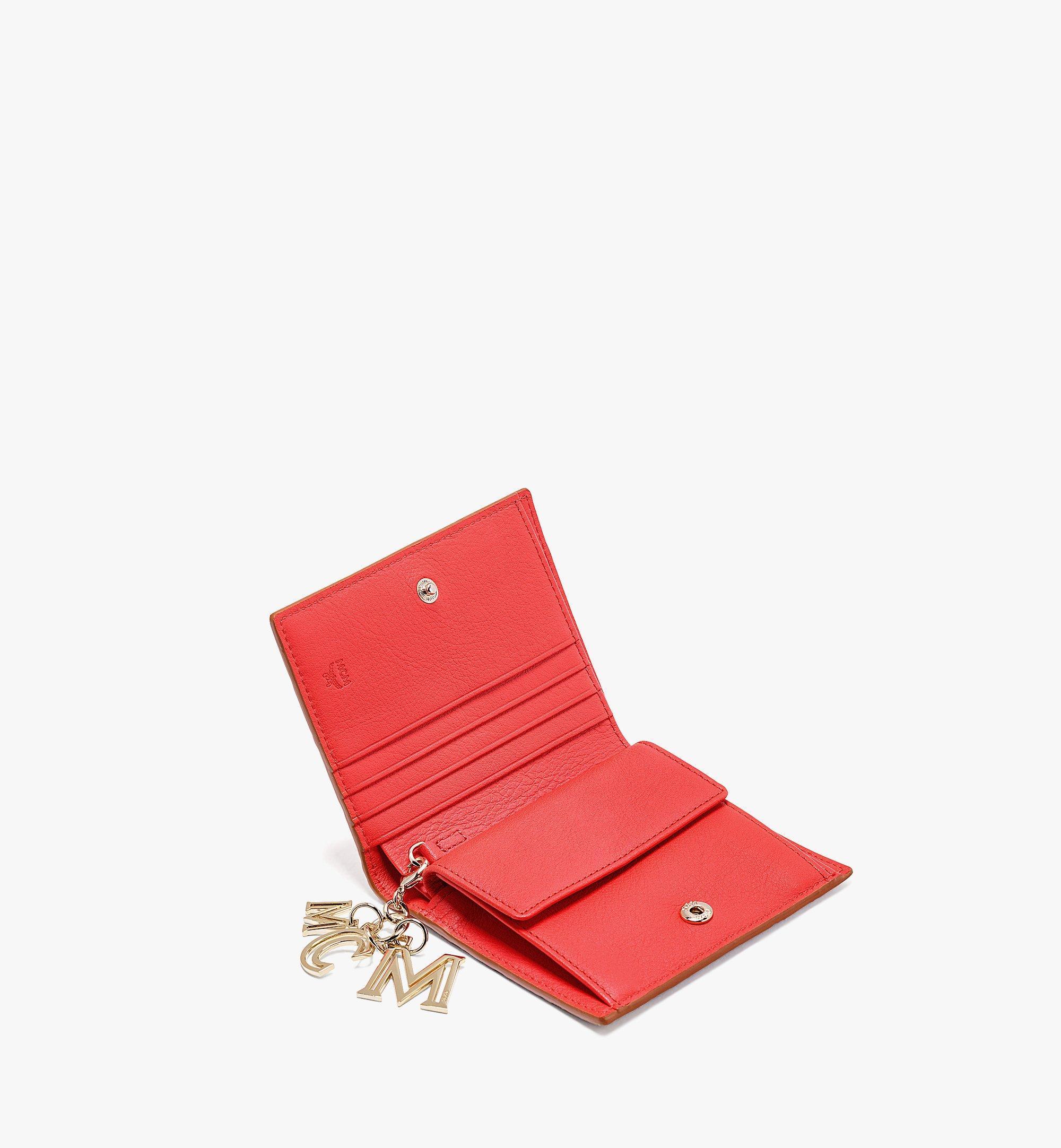 MCM Gefaltete Lederbrieftasche Klara mit Monogramm Red MYS9SKM40R8001 Noch mehr sehen 1