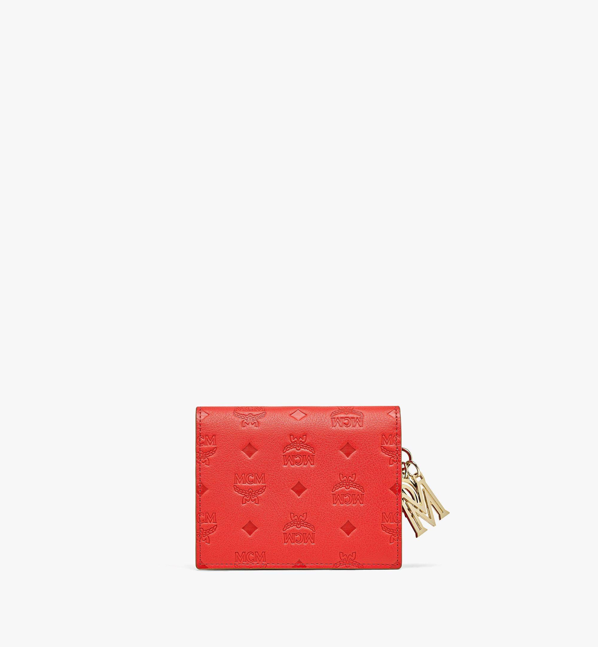 MCM Gefaltete Lederbrieftasche Klara mit Monogramm Red MYS9SKM40R8001 Noch mehr sehen 2
