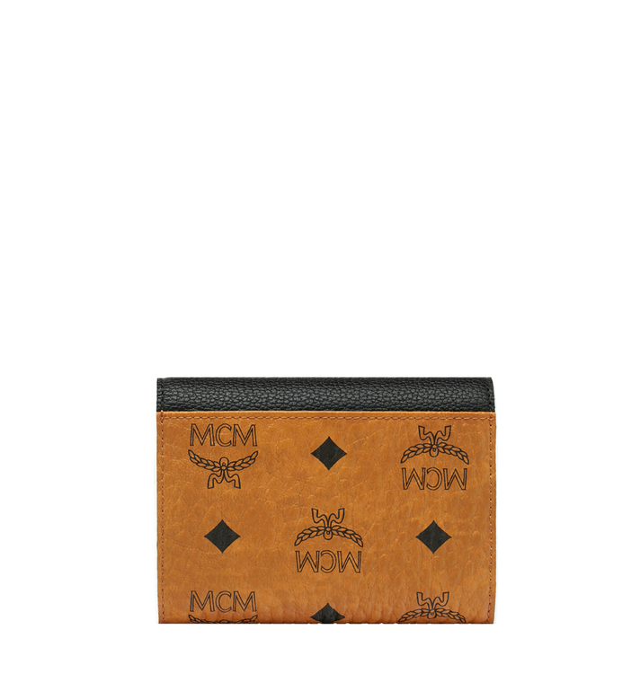 MCM Portefeuille à trois volets Patricia en Visetos Leather Block Alternate View 3