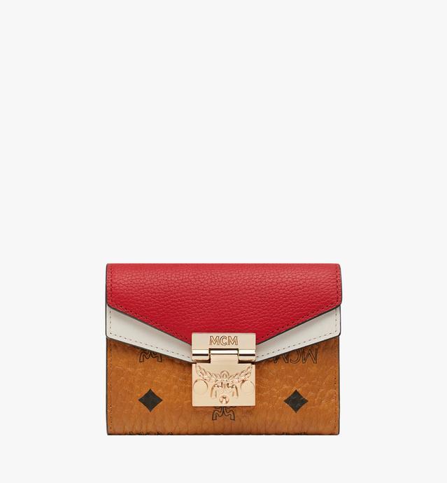 Portefeuille à trois volets Patricia en Visetos Leather Block