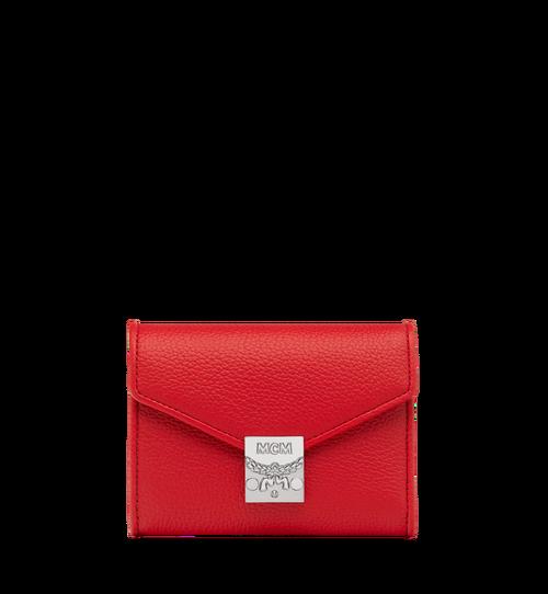 Dreifach gefaltete Patricia Brieftasche aus genarbtem Leder