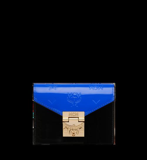 Dreifach gefaltete Patricia Brieftasche aus Lackleder mit Monogramm