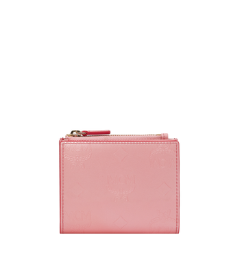 MCM Two-Fold Wallet in Monogram Patent Leather Alternate View