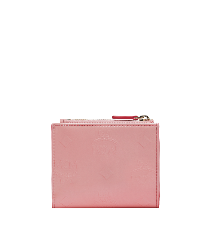 MCM Two-Fold Wallet in Monogram Patent Leather AlternateView3