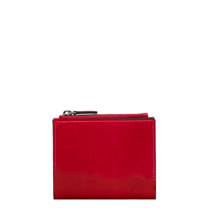MCM Two-Fold Wallet in Monogram Patent Leather AlternateView