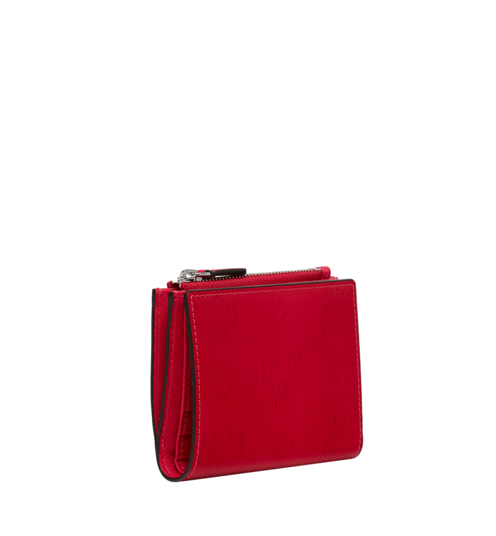 MCM Two-Fold Wallet in Monogram Patent Leather AlternateView2