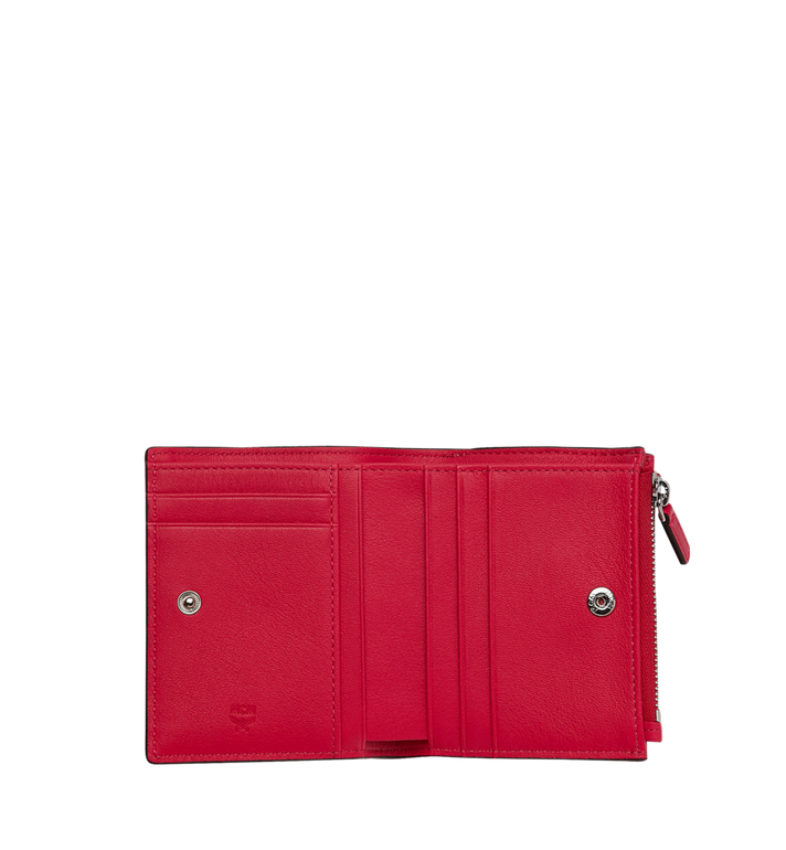 MCM Two-Fold Wallet in Monogram Patent Leather AlternateView4
