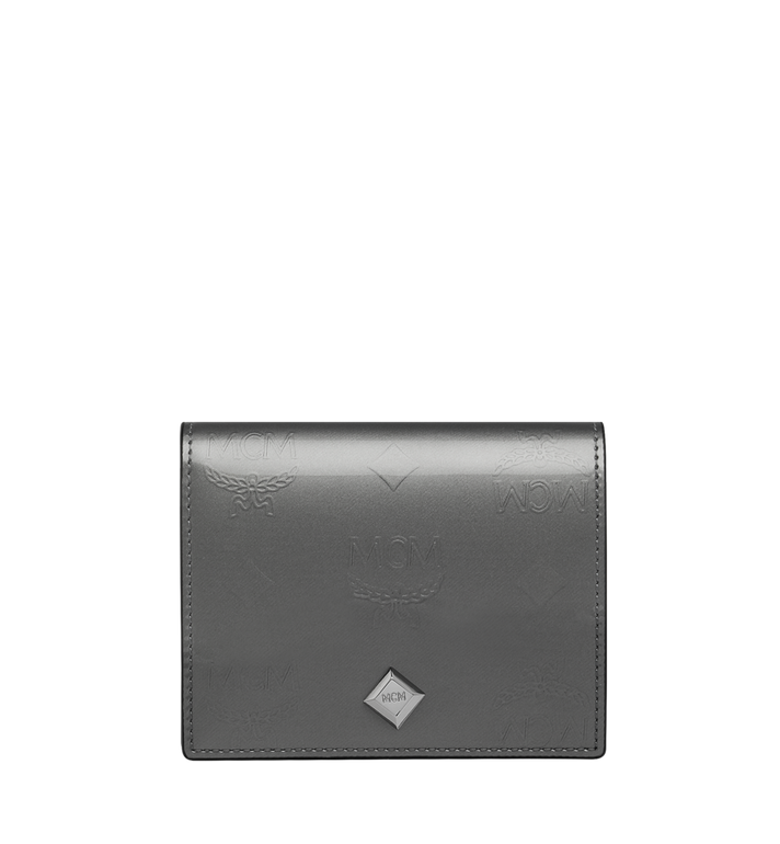 MCM Two-Fold Flat Wallet in Monogram Patent Leather Alternate View