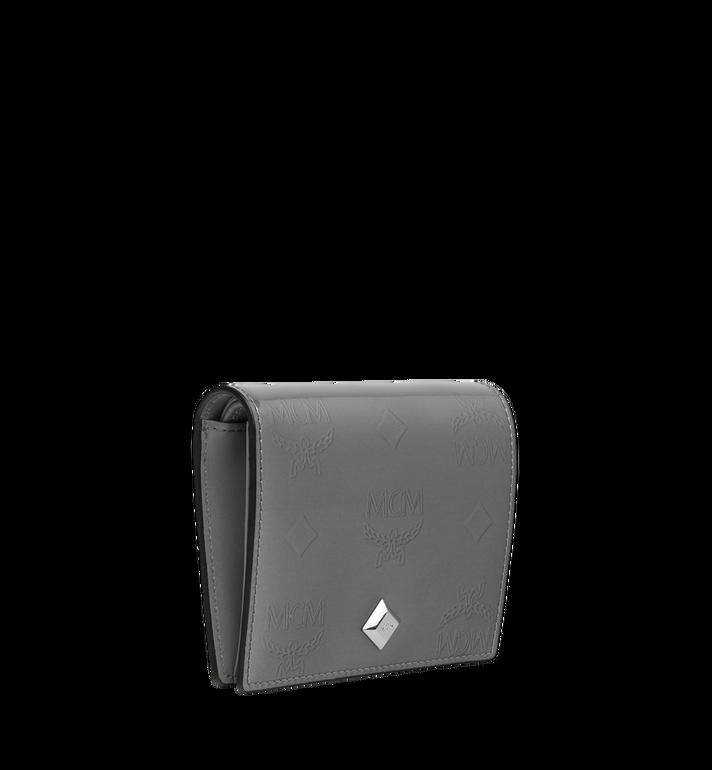 MCM Two-Fold Flat Wallet in Monogram Patent Leather Grey MYS9SPM04EG001 Alternate View 2