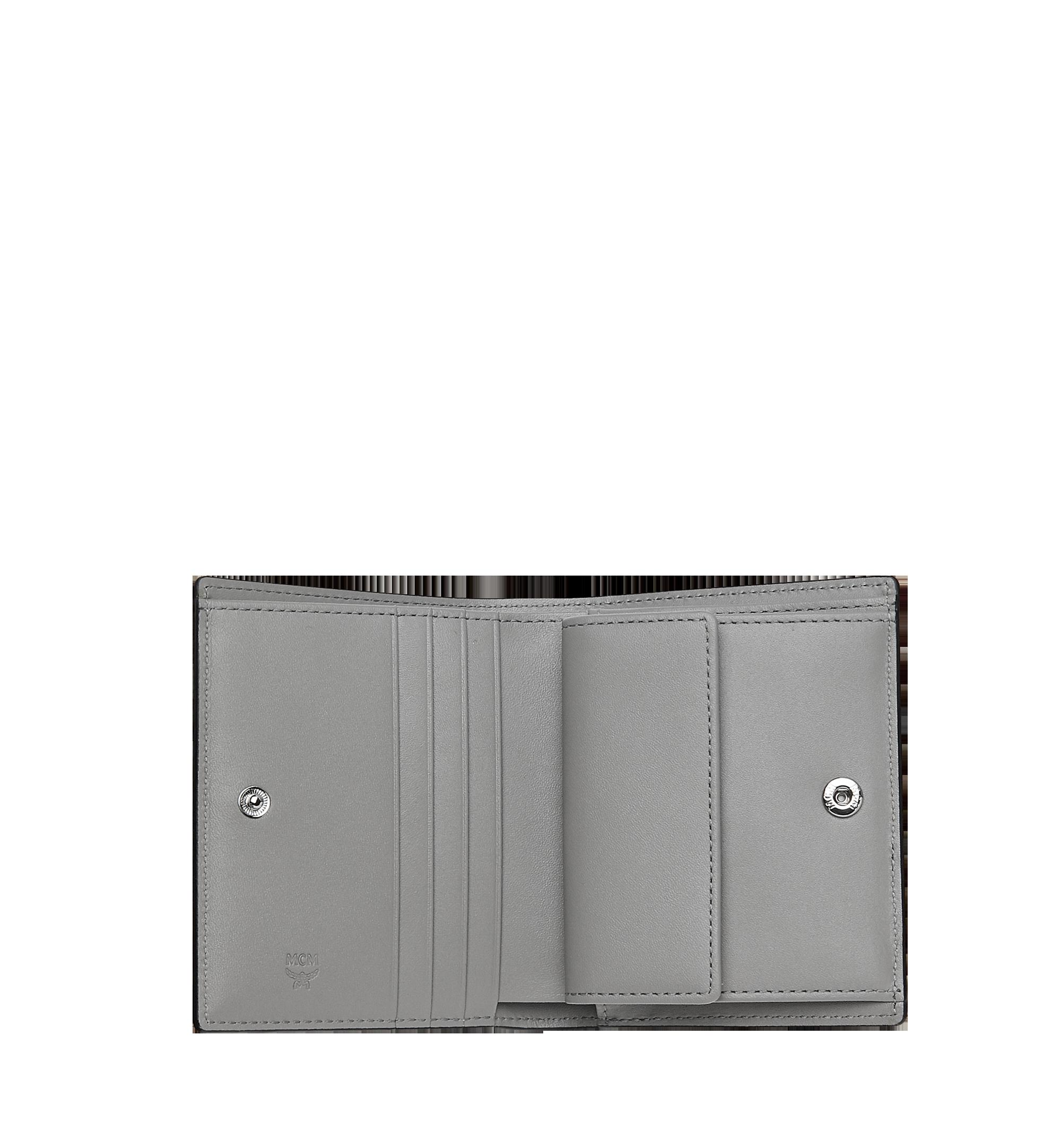 MCM Two-Fold Flat Wallet in Monogram Patent Leather Grey MYS9SPM04EG001 Alternate View 4