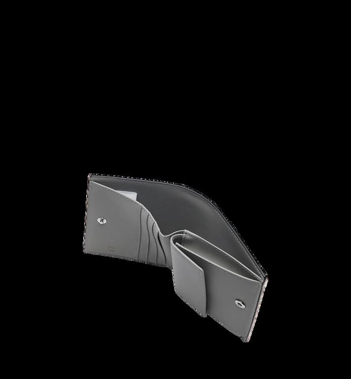 MCM Two-Fold Flat Wallet in Monogram Patent Leather Grey MYS9SPM04EG001 Alternate View 5
