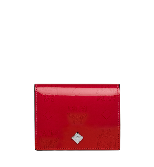 Two-Fold Flat Wallet in Monogram Patent Leather