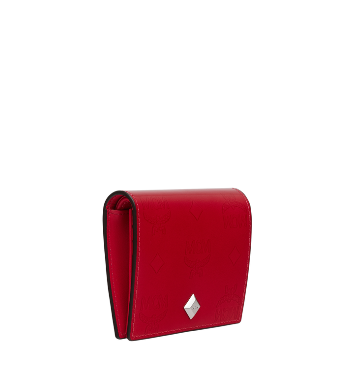MCM Two-Fold Flat Wallet in Monogram Patent Leather Red MYS9SPM04UF001 Alternate View 2