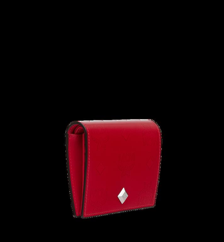 MCM Portefeuille plat à deux volets en cuir verni monogrammé Red MYS9SPM04UF001 Alternate View 2