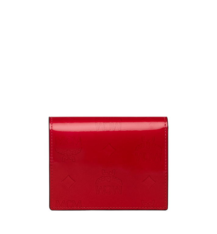 MCM Two-Fold Flat Wallet in Monogram Patent Leather Red MYS9SPM04UF001 Alternate View 3