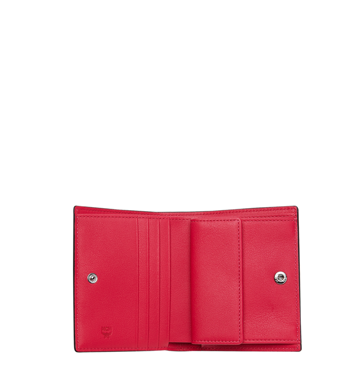 MCM Two-Fold Flat Wallet in Monogram Patent Leather Red MYS9SPM04UF001 Alternate View 4