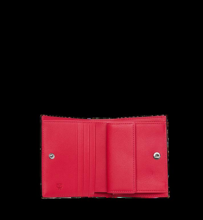 MCM Portefeuille plat à deux volets en cuir verni monogrammé Red MYS9SPM04UF001 Alternate View 4