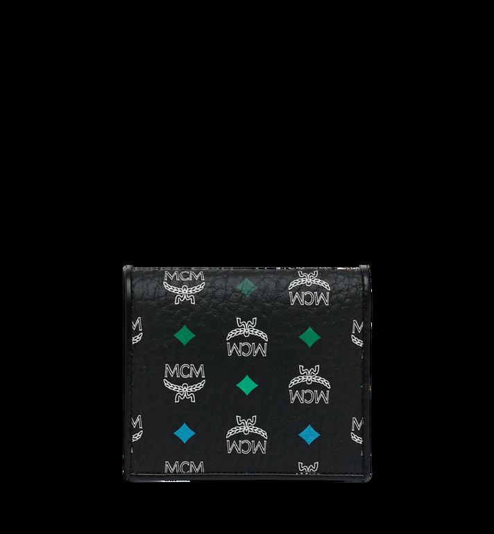 MCM Two Fold Flat Wallet in Skyoptic Visetos MYS9SSV65BA001 AlternateView3