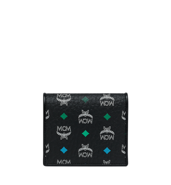 MCM Two Fold Flat Wallet in Skyoptic Visetos Alternate View 3