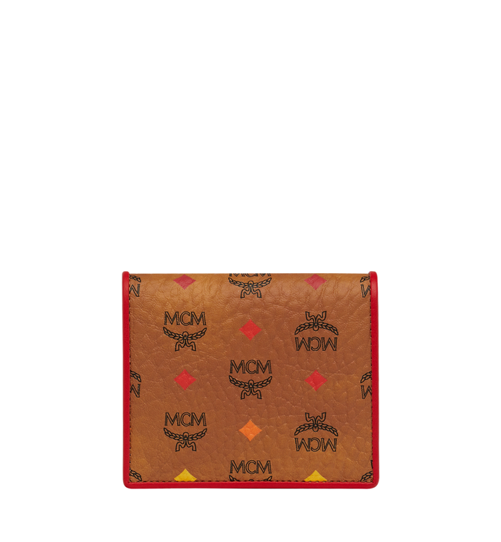 MCM Two Fold Flat Wallet in Skyoptic Visetos Alternate View