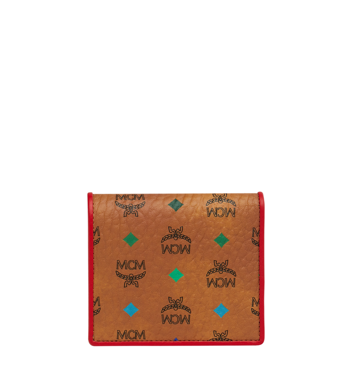 MCM Two Fold Flat Wallet in Skyoptic Visetos Alternate View 3