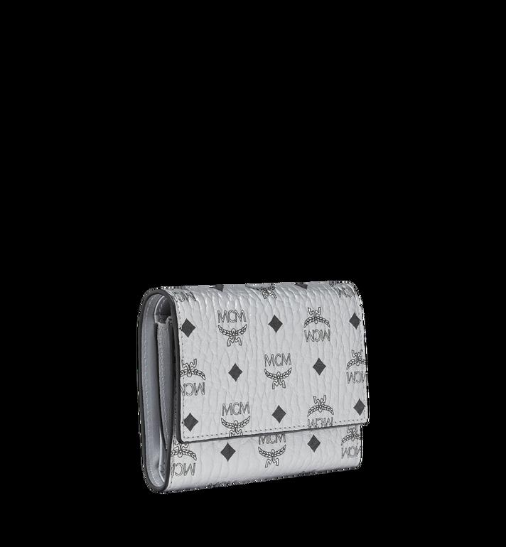 MCM Three Fold Wallet in Visetos Original Silver MYS9SVI83SB001 Alternate View 2