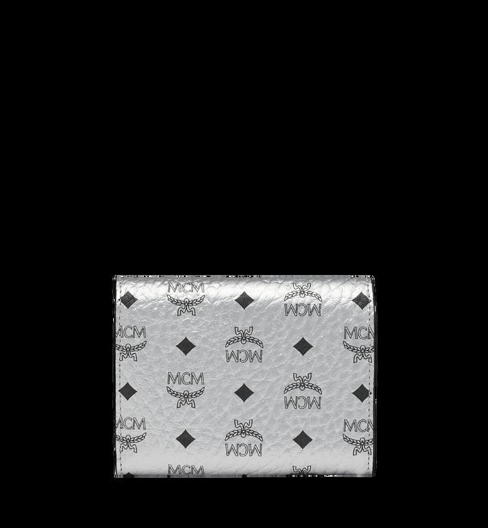 MCM Three Fold Wallet in Visetos Original Silver MYS9SVI83SB001 Alternate View 3