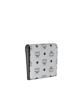 MCM Two Fold Flat Wallet in Visetos Original MYS9SVI94SB001 AlternateView2