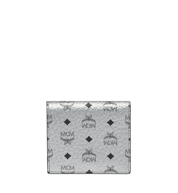 MCM Two Fold Flat Wallet in Visetos Original Alternate View 3