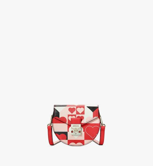 Round Crossbody Wallet in Cubic Valentine Leather
