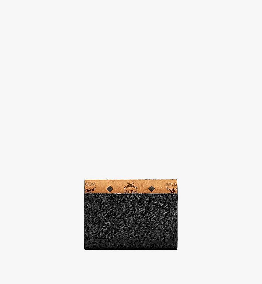 MCM Mena Trifold Wallet in Visetos Leather Block Black MYSAALM01BK001 Alternate View 2