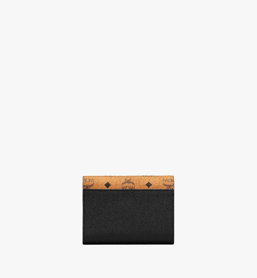 MCM Mena Trifold Wallet in Visetos Leather Block Black MYSAALM01BK001 Alternate View 2