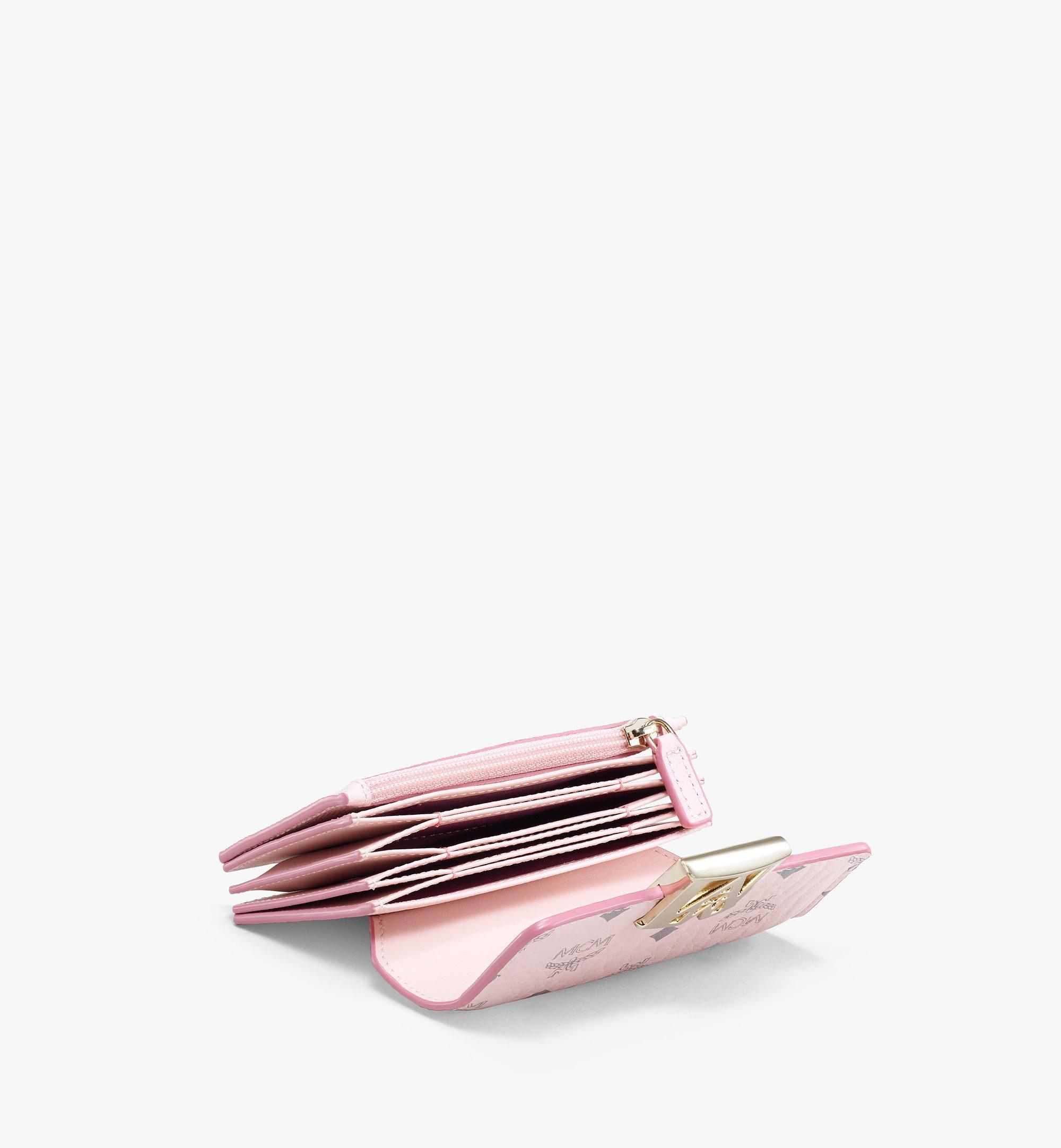 MCM 拼色 Visetos 皮革 Mena 手風琴卡片夾 Pink MYSAALM03QH001 更多視圖 1
