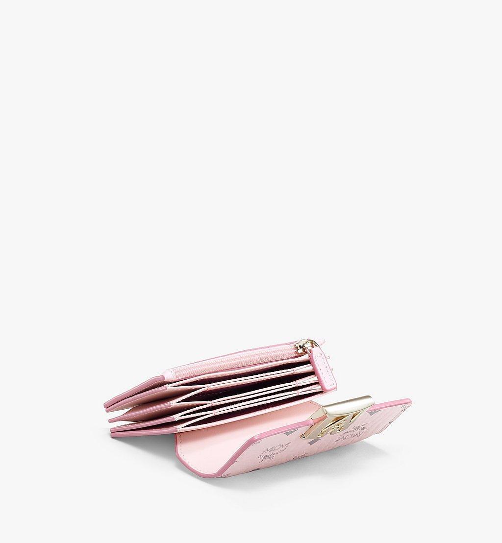 MCM 〈メーナ〉アコーディオン カードホルダー - ヴィセトス レザー ブロック Pink MYSAALM03QH001 ほかの角度から見る 1