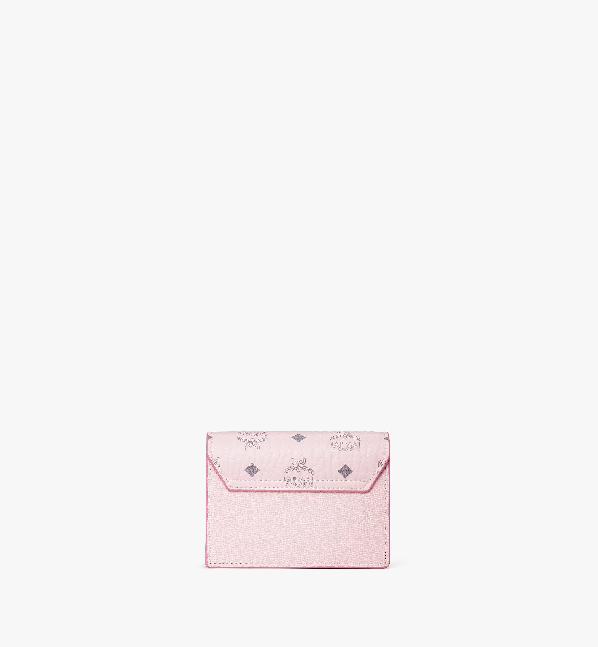 MCM 拼色 Visetos 皮革 Mena 手風琴卡片夾 Pink MYSAALM03QH001 更多視圖 2