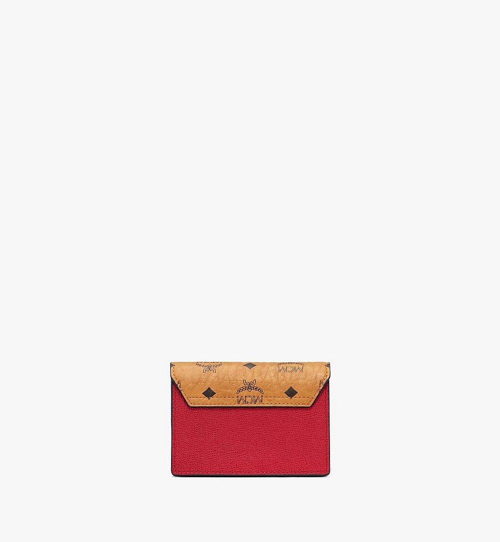 MCM 〈メーナ〉アコーディオン カードホルダー - ヴィセトス レザー ブロック Red MYSAALM03RU001 ほかの角度から見る 2