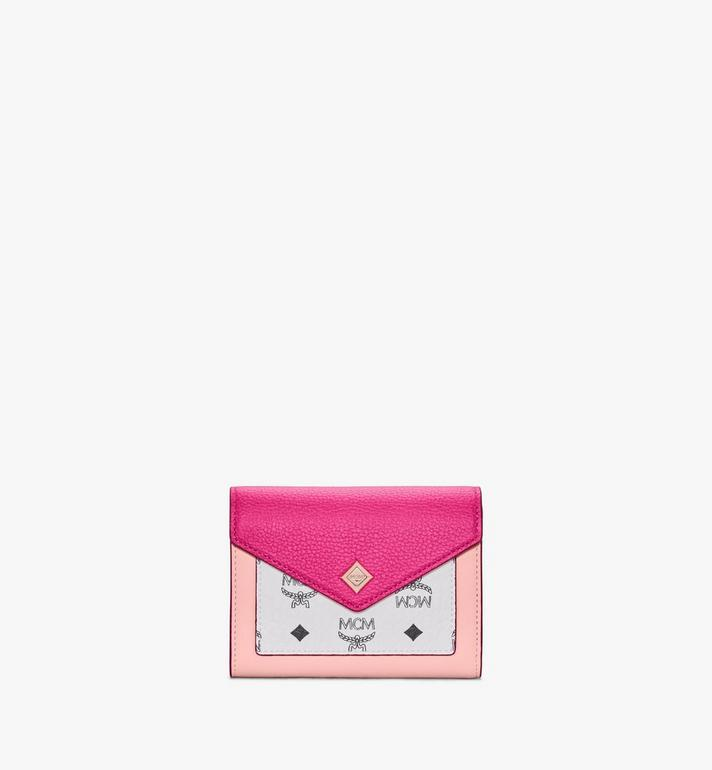 MCM Love Letter Trifold Wallet in Color Block Leather Alternate View
