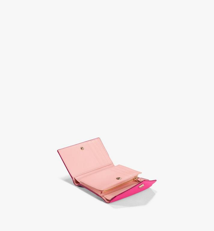 MCM Love Letter Trifold Wallet in Color Block Leather Pink MYSAALV01QJ001 Alternate View 2