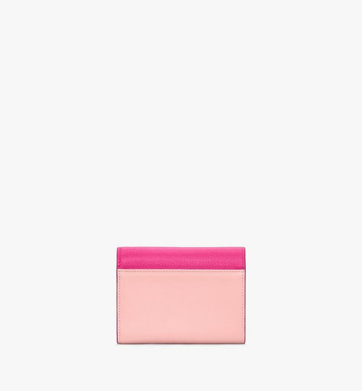 MCM Love Letter Trifold Wallet in Color Block Leather Pink MYSAALV01QJ001 Alternate View 3