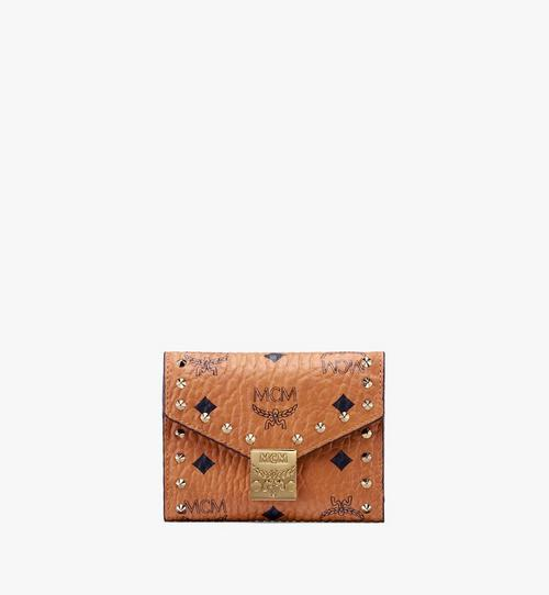 Patricia Trifold Wallet in Studded Outline Visetos