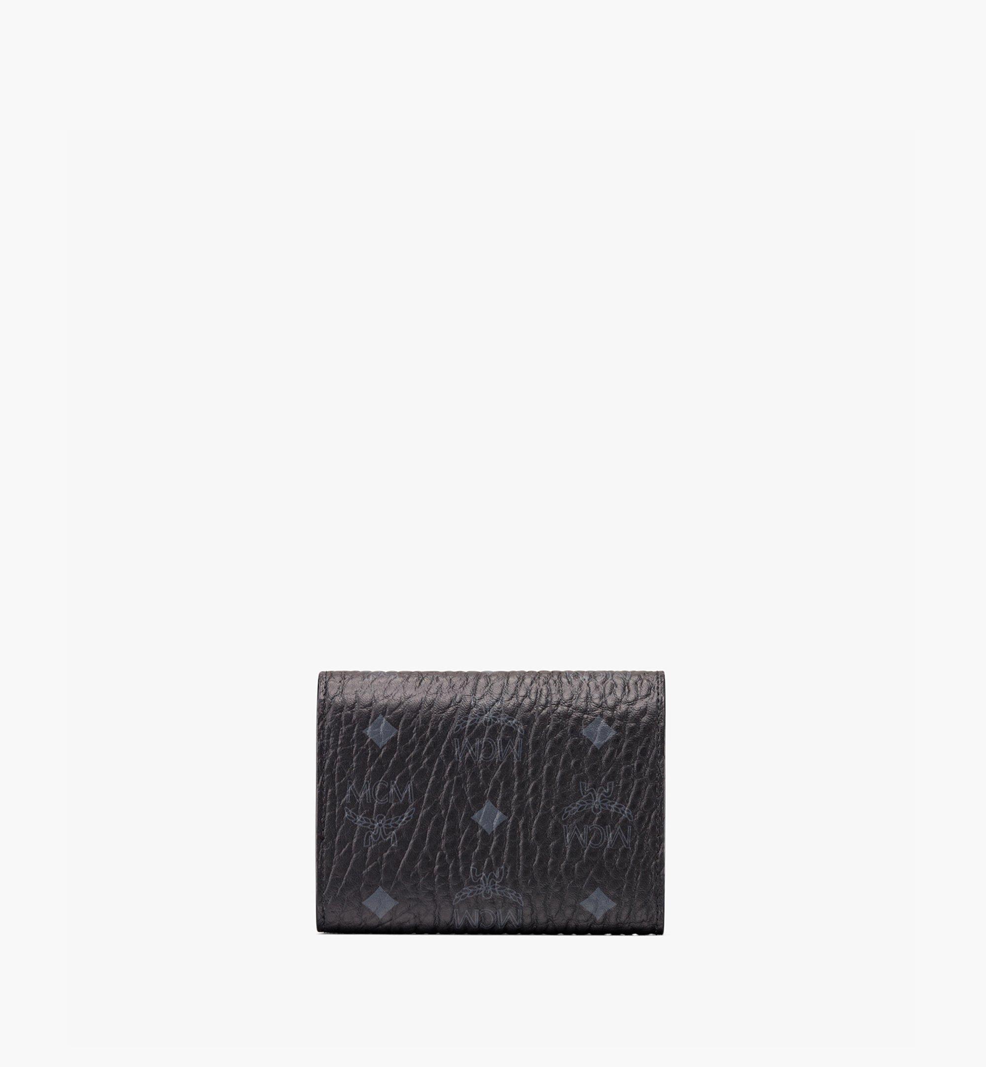MCM Dreifach gefaltete Brieftasche Patricia in Visetos Black MYSAAPA02BK001 Noch mehr sehen 1