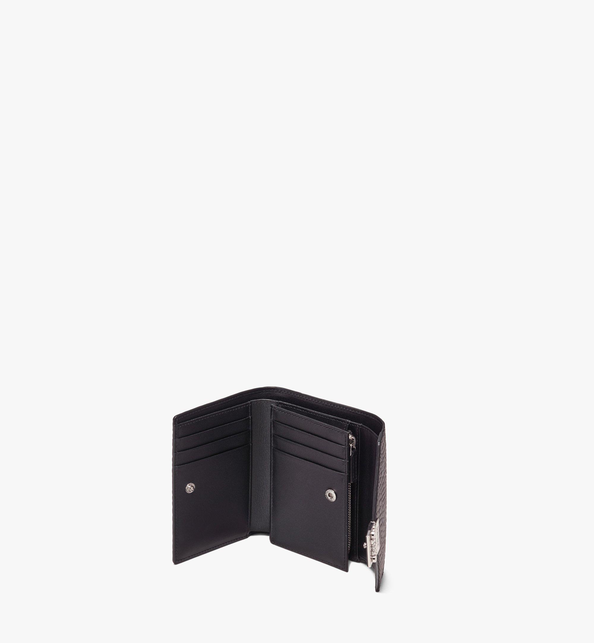MCM Dreifach gefaltete Brieftasche Patricia in Visetos Black MYSAAPA02BK001 Noch mehr sehen 2