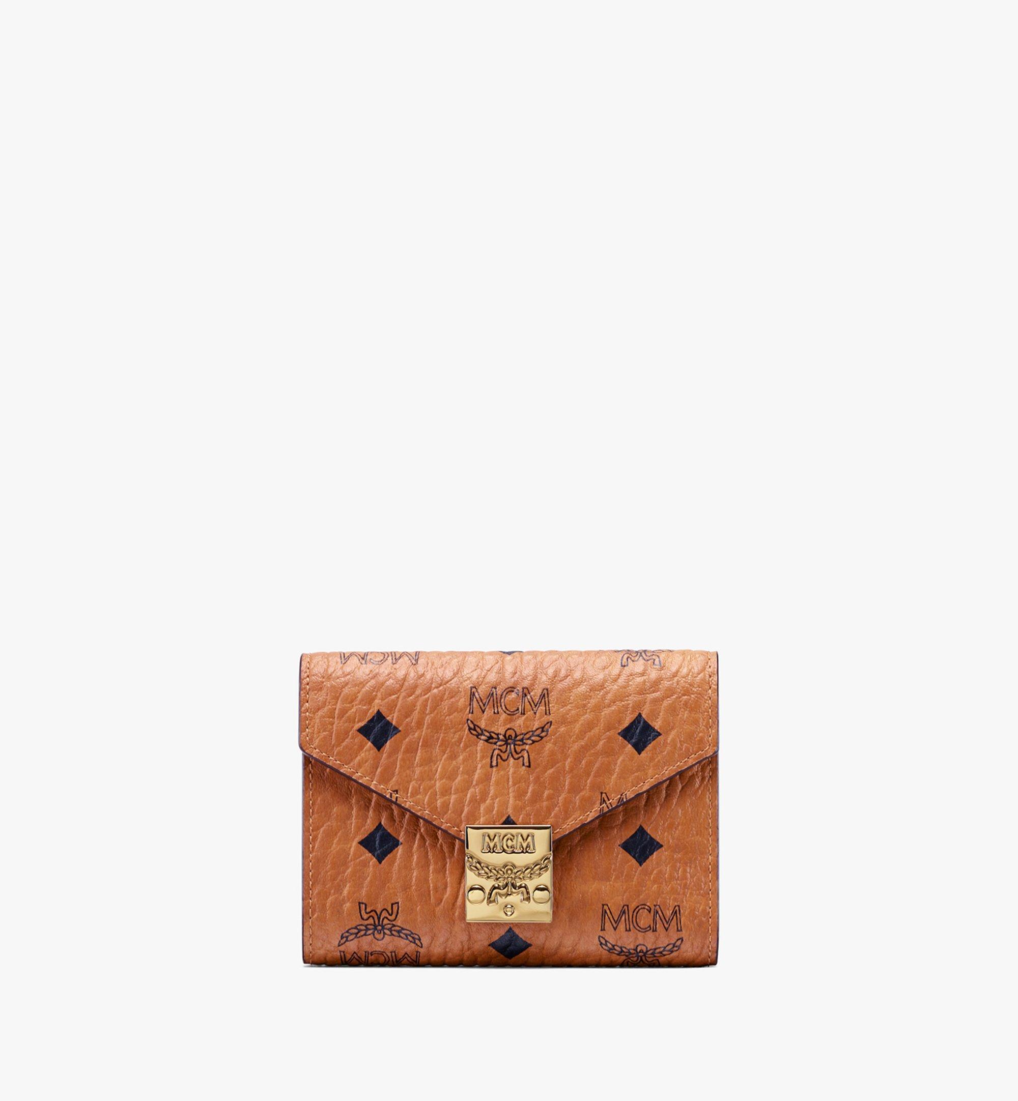 MCM Patricia Trifold Wallet in Visetos Cognac MYSAAPA02CO001 Alternate View 1