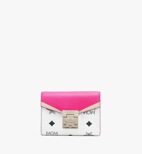 Patricia Three Fold Wallet in Color Block Visetos