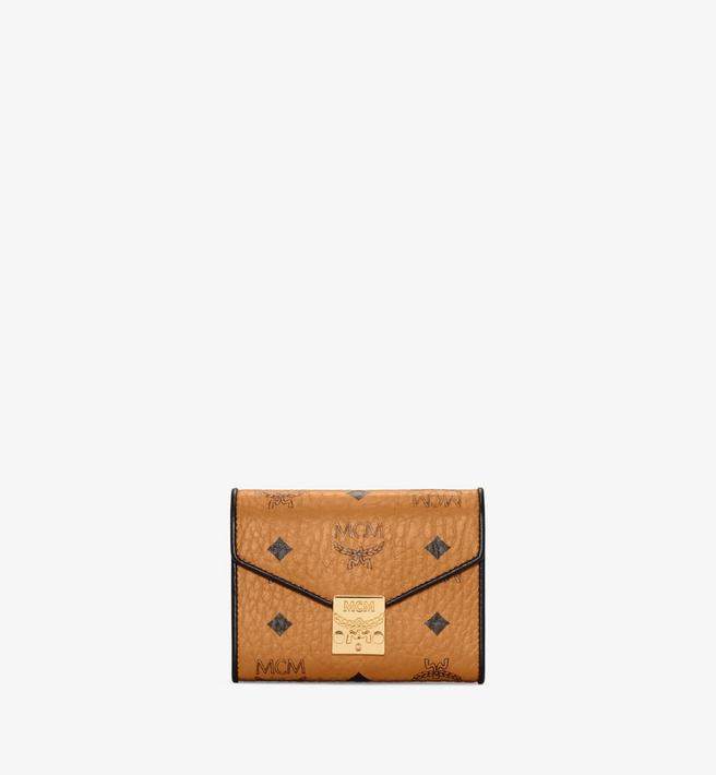 MCM Patricia Trifold Wallet in Visetos Leather Block Alternate View
