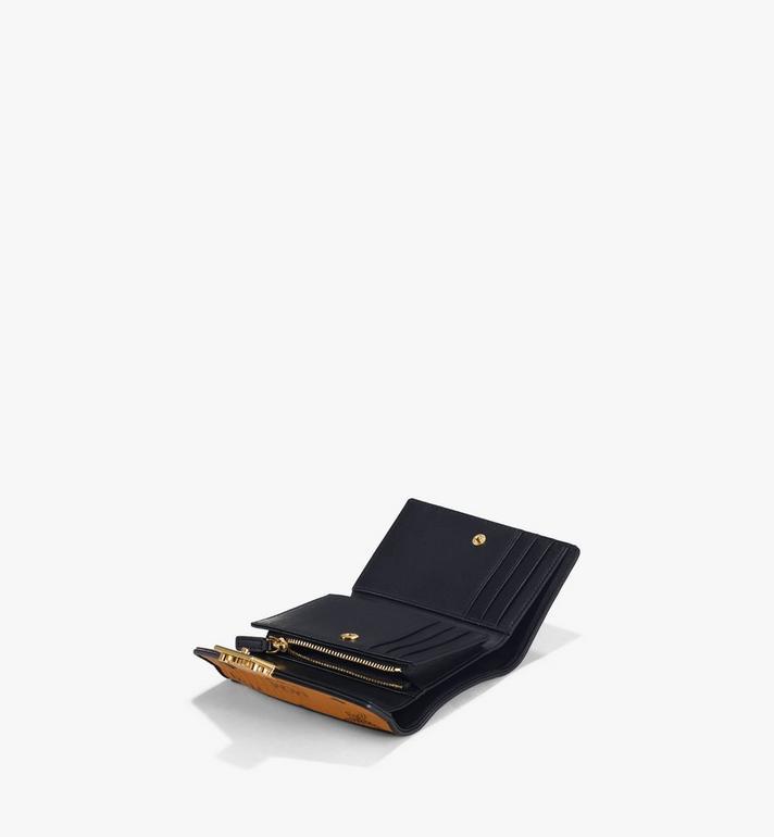 MCM Patricia Trifold Wallet in Visetos Leather Block Cognac MYSAAPA05CO001 Alternate View 2