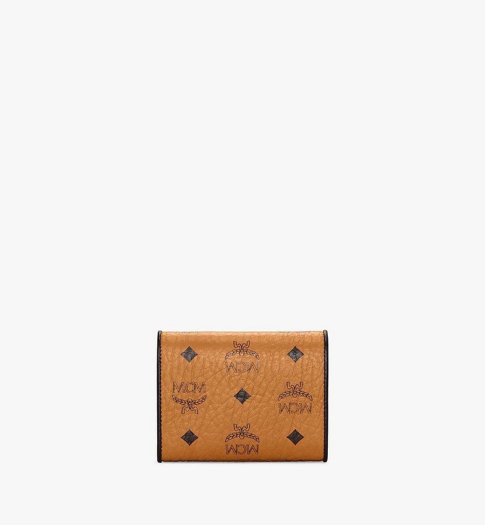MCM Patricia Trifold Wallet in Visetos Leather Block Cognac MYSAAPA05CO001 Alternate View 2