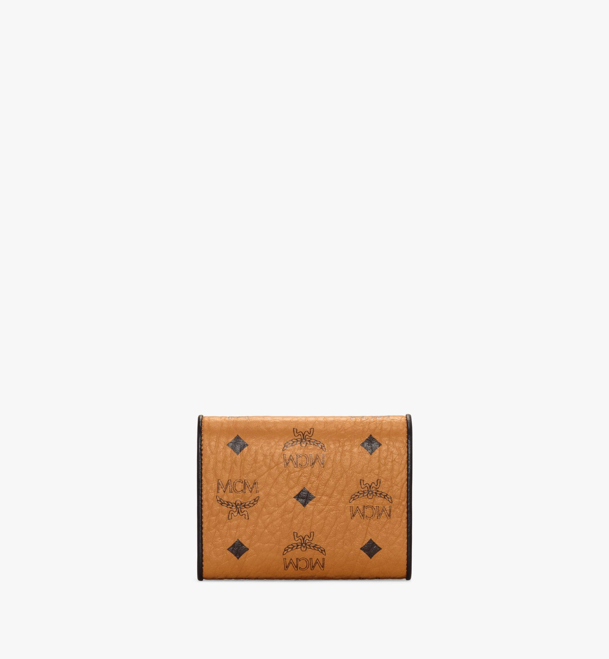 MCM Patricia Trifold Wallet in Visetos Leather Block Cognac MYSAAPA05CO001 Alternate View 3